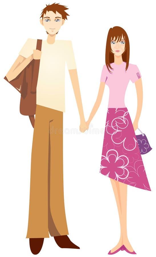 Süße Paarholdinghand