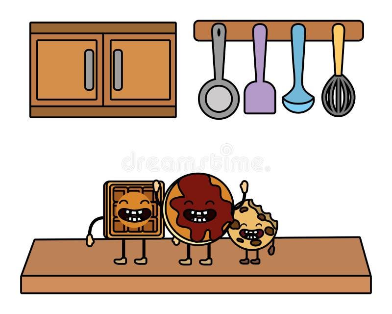 Süße Plätzchenkarikatur stock abbildung
