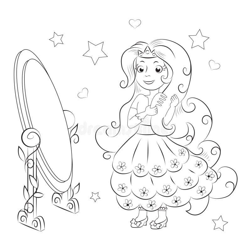 Süße Prinzessin Bunte grafische Abbildung lizenzfreie abbildung