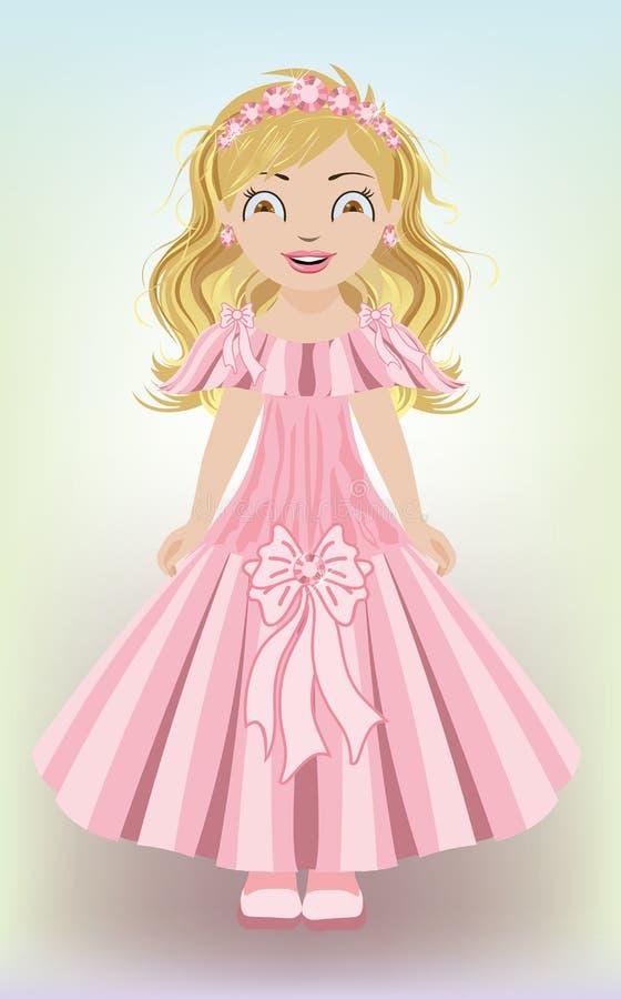 Süße Prinzessin des kleinen Mädchens lizenzfreie abbildung