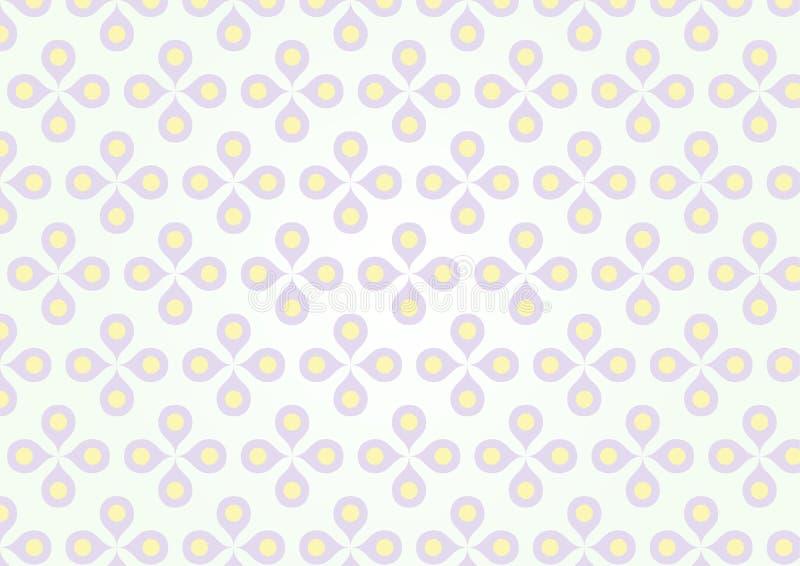 Süße purpurrote Blume und gelber Blütenstaub auf Pastellfarbe lizenzfreie abbildung