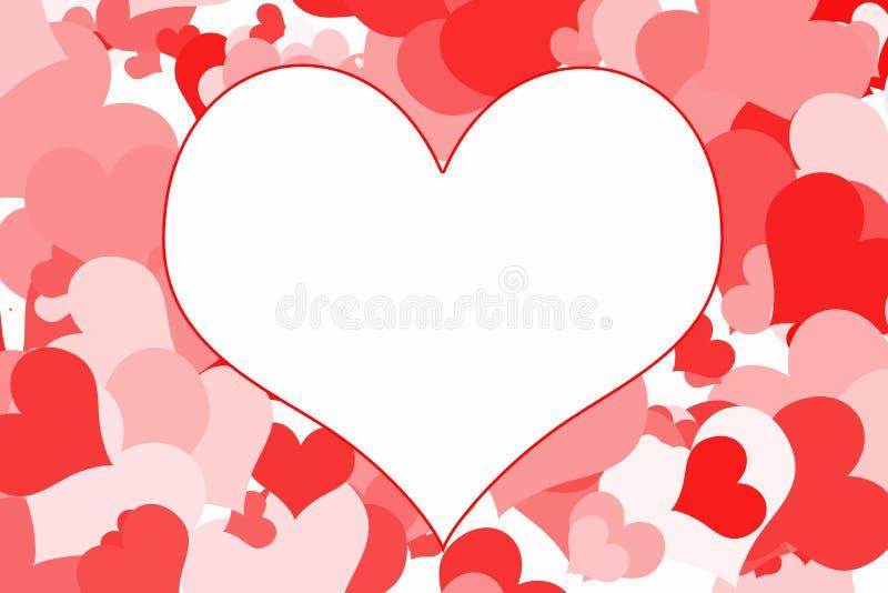 Süße romantische Valentinsgrüße vektor abbildung
