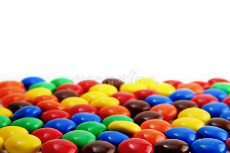 Süße runde Schokoladen lizenzfreies stockbild