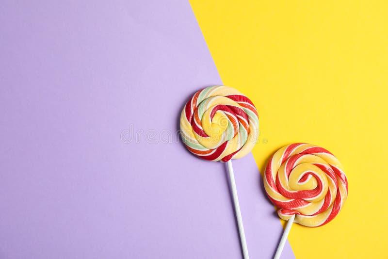 Süße Süßigkeiten mit Raum für Text lizenzfreie stockbilder