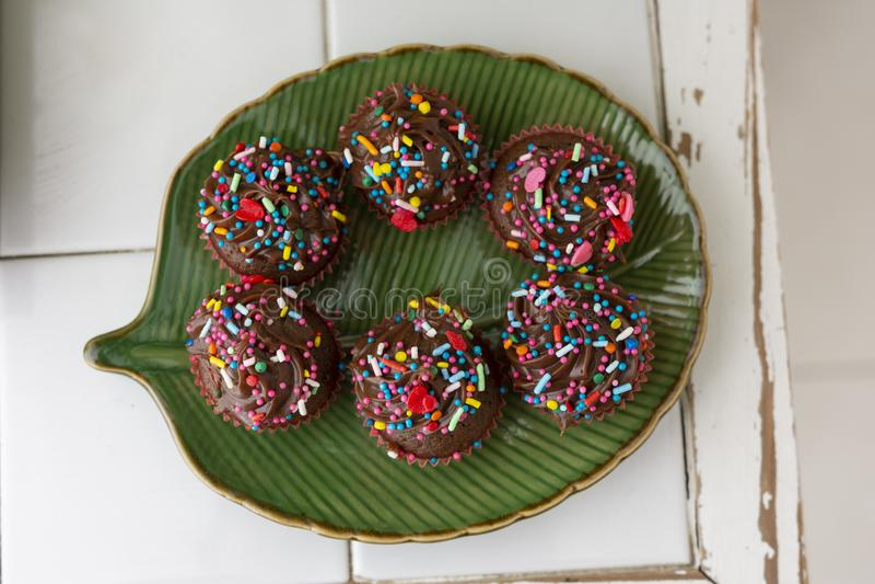 Süße Schokolade Brigadeiro lizenzfreies stockbild