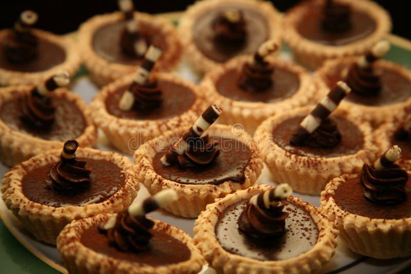 Süße Schokoladen-Feinschmecker-Nachtisch stockbilder