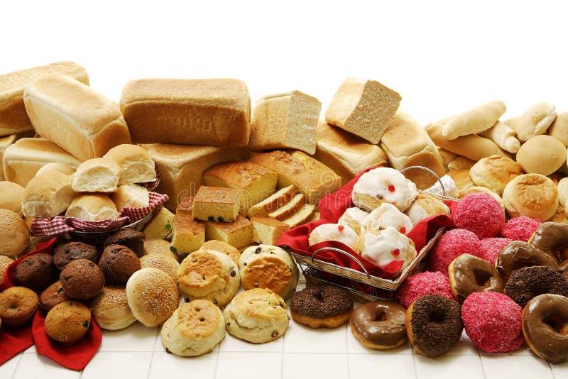 Süße und wohlschmeckende Backwaren stockbilder