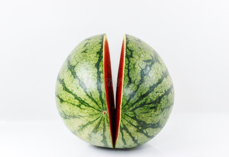 Süße Wassermelone lokalisiert auf Weiß stockbilder