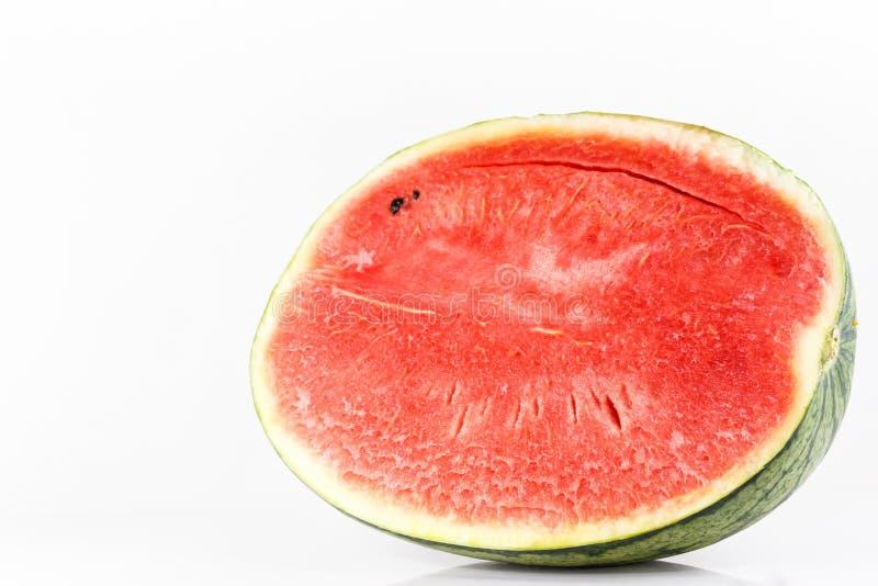 Süße Wassermelone lokalisiert auf weißem Hintergrund stockbild