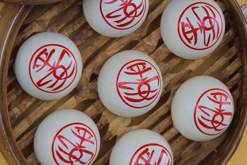Süße weiße Brötchen, Cheung Chau Bun Festival stockfotografie