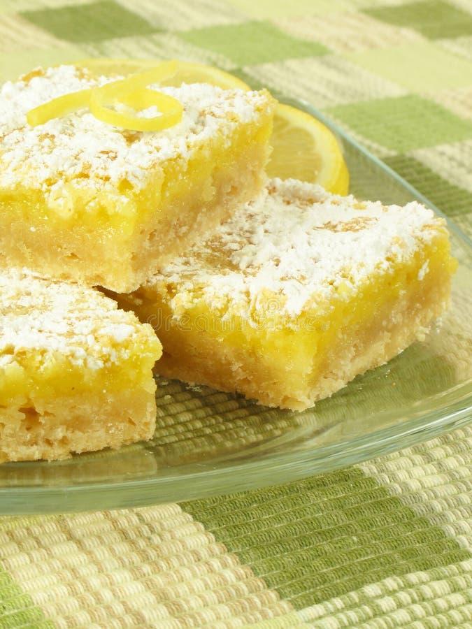 Süße Zitrone-Stäbe lizenzfreie stockbilder