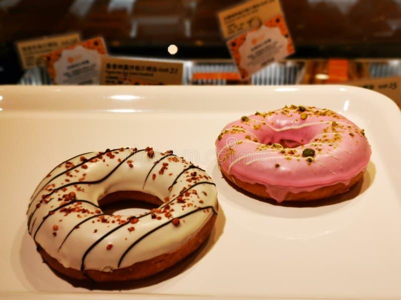 S??er funkelnder Donut lizenzfreie stockbilder