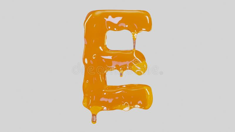 Süßer geschmackvoller Buchstabe E lizenzfreie abbildung