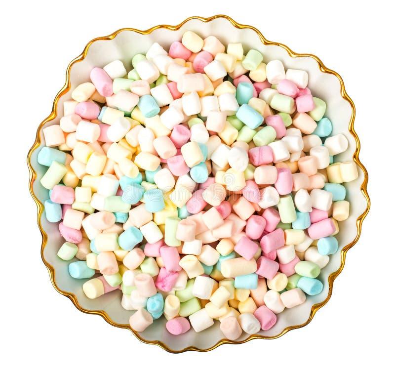 Süßer geschmackvoller farbiger Eibisch Mini auf Weiß lizenzfreies stockbild