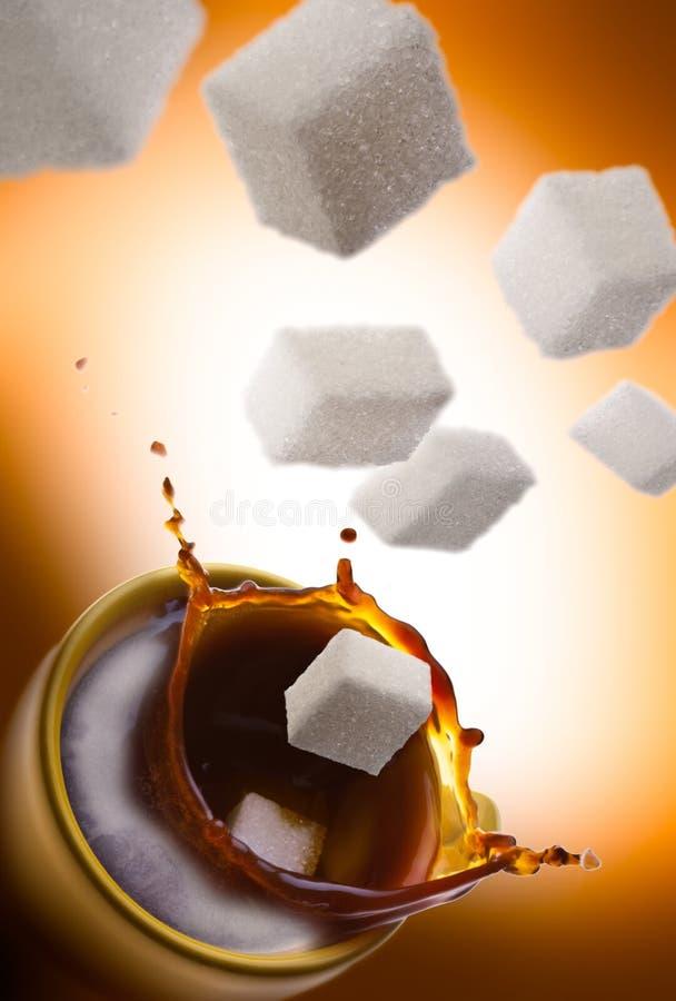 Süßer Kaffee stockbild