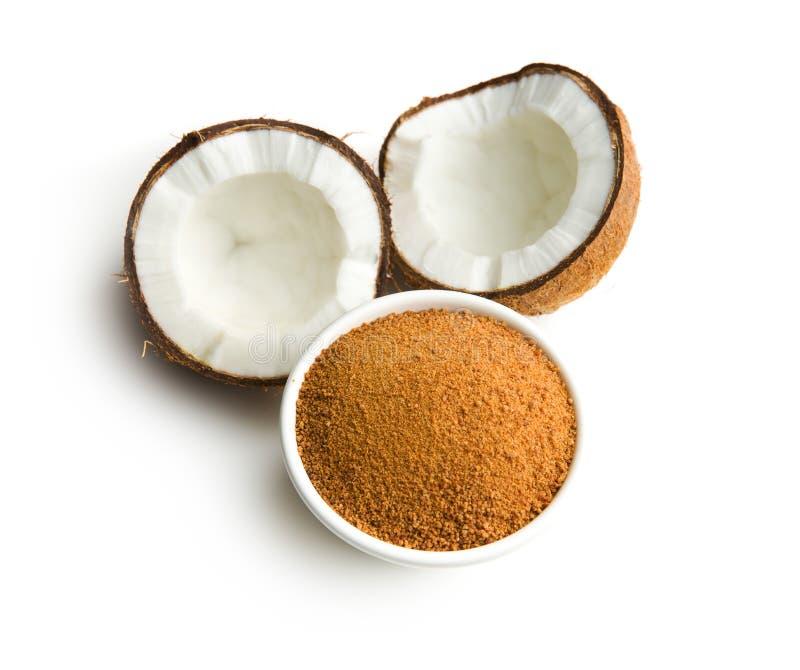 Süßer Kokosnusszucker stockfotos