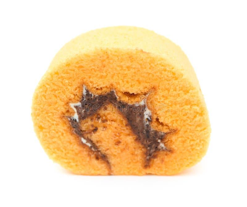Süßer Kuchen auf Weiß lizenzfreie stockfotos