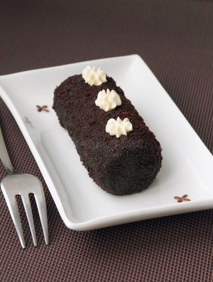 Süßer Kuchen der kleinen Schokolade lizenzfreie stockbilder