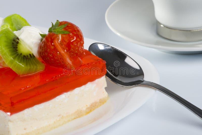 Süßer Kuchen und Cup stockbilder