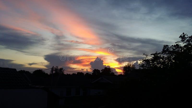 Süßer Sonnenuntergang an kuanta pahang stockbild