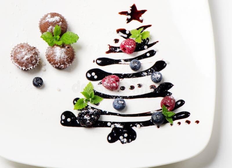 Süßer Weihnachtsbaum lizenzfreies stockfoto