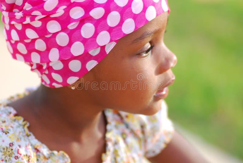 Süßes afrikanisches Mädchen stockbilder