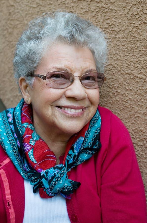 Süßes Großmutter-Lächeln stockfotos