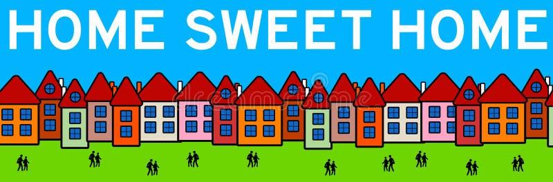 Süßes Haupthaus lizenzfreie abbildung