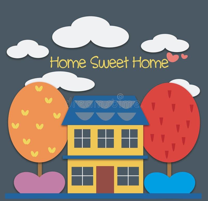 Süßes Haupthaus stock abbildung