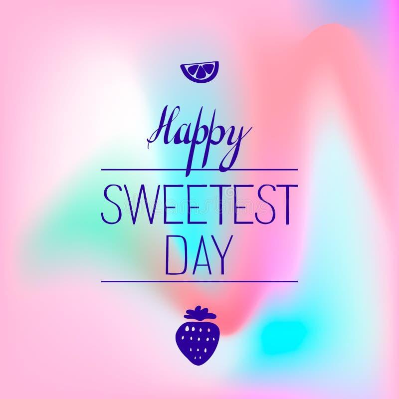 Süßes Logo der Frucht Tages, einfache Art lizenzfreie abbildung