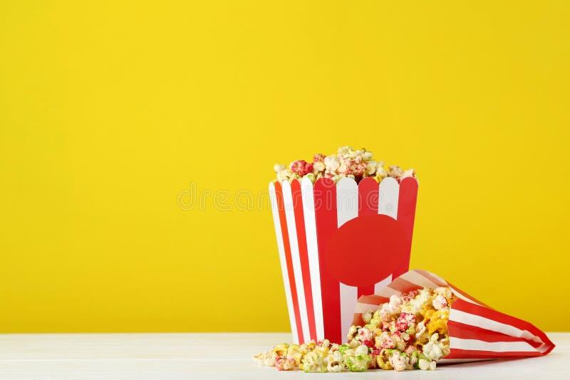 Süßes Popcorn stockfotos