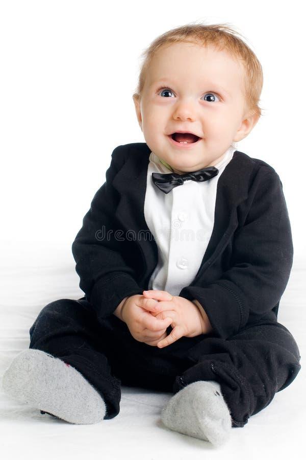 Süßes Schätzchen im tailcoat stockfotos