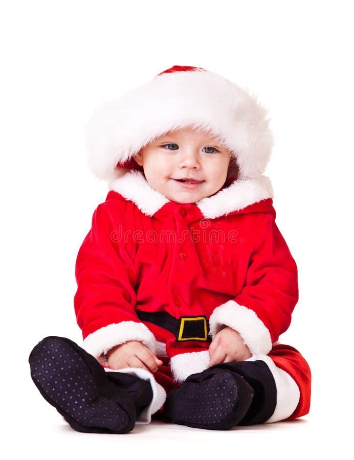 Süßes Schätzchen im Weihnachtskostüm lizenzfreies stockbild