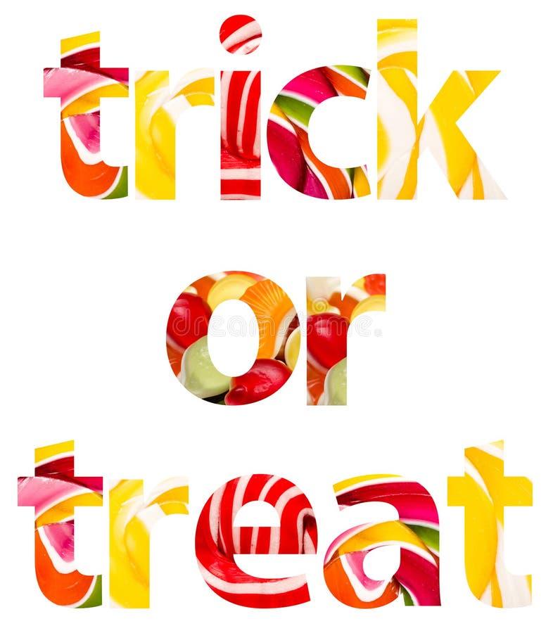 Süßes sonst gibt's Saures Halloween-Wörter vektor abbildung