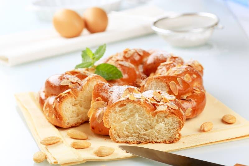 Süßes umsponnenes Brot stockfoto