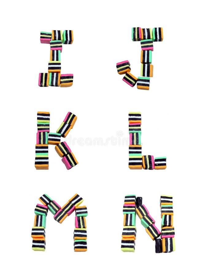 Süßholz alles Sortierung-Alphabet I - N vektor abbildung