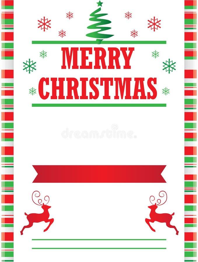 Süßigkeit Cane Merry Christmas Poster Template lizenzfreie abbildung