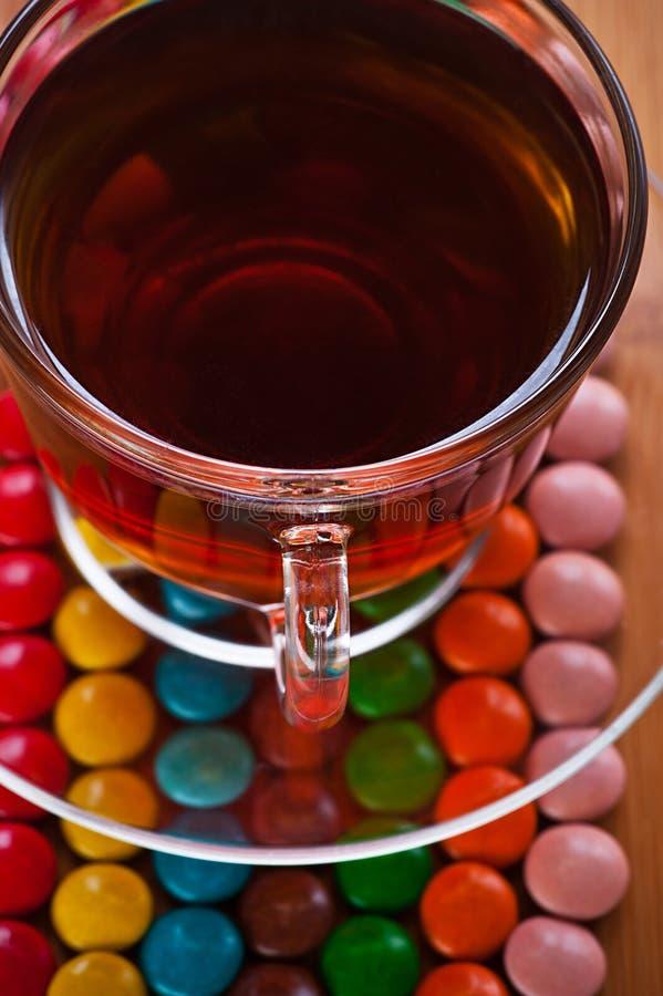 Süßigkeit, Cup von (Tee, Kaffee) lizenzfreies stockbild