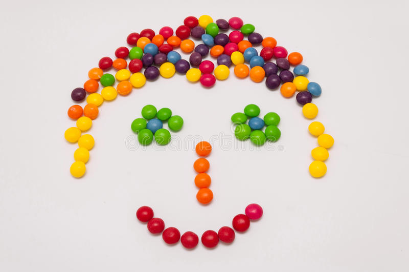 Süßigkeit Emoticon lizenzfreies stockbild