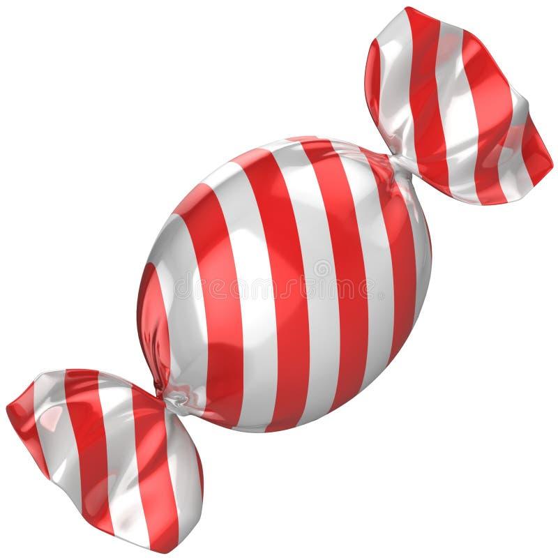 Süßigkeit getrennt auf dem Weiß lizenzfreie abbildung