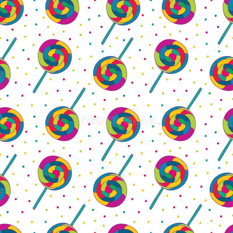 Süßigkeit nahtlos lizenzfreie abbildung