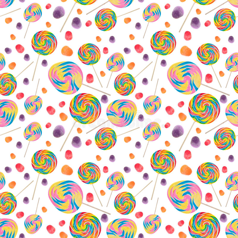Süßigkeit-nahtloser Tapeten-Hintergrund stockfotos