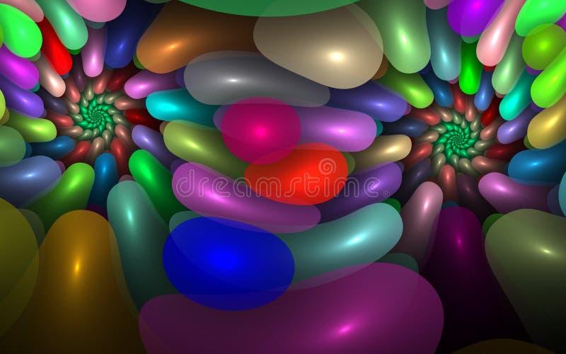 Süßigkeit-Strudel lizenzfreie stockfotos