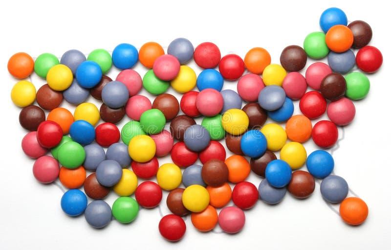Süßigkeit USA lizenzfreies stockbild