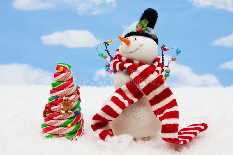 Süßigkeit-Weihnachtsbaum stockfoto