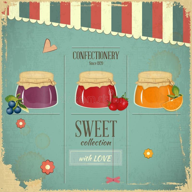 Süßigkeiten-Retro Auslegung vektor abbildung