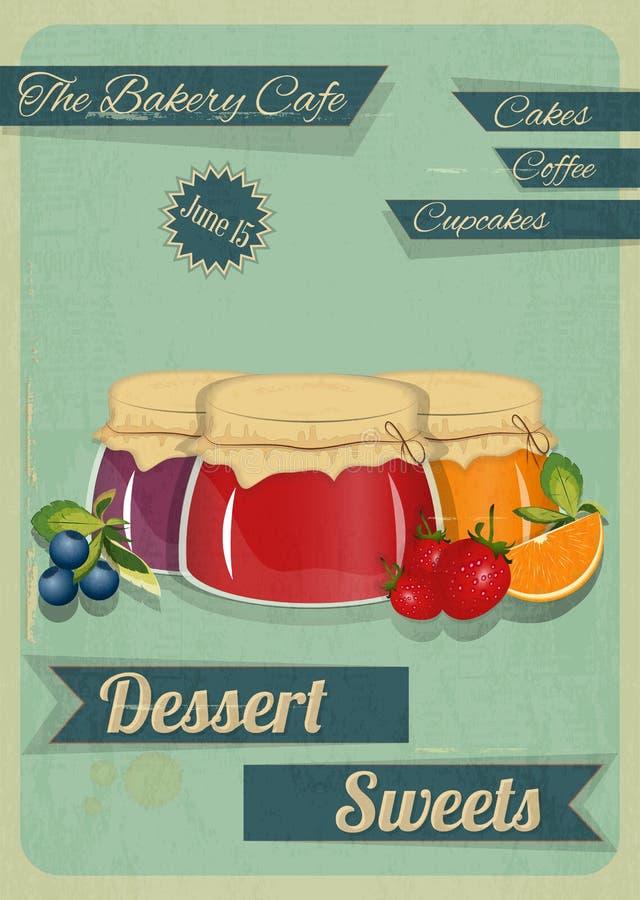 Süßigkeiten-Retro- Design lizenzfreie abbildung