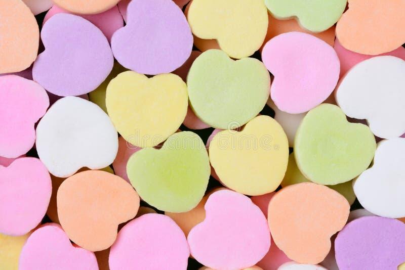Süßigkeits-Herzen Makro stockbilder