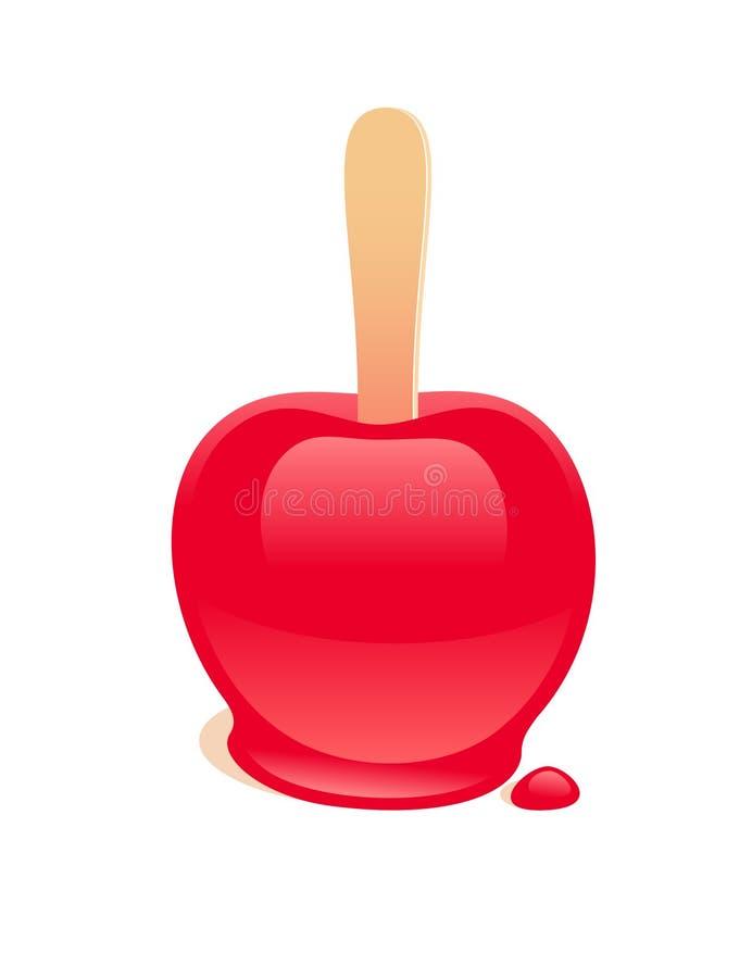 Süßigkeitsapfel lizenzfreie abbildung