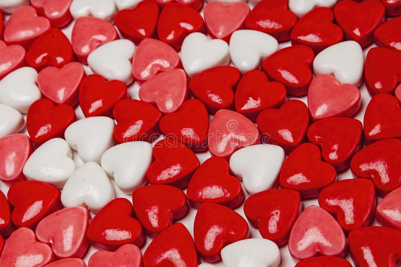 Süßigkeitsherzen, Valentinsgrüße, Tag lizenzfreie stockbilder